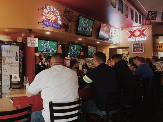 Crowds gathered at Amigos Restaurant & Cantina in Tulare.