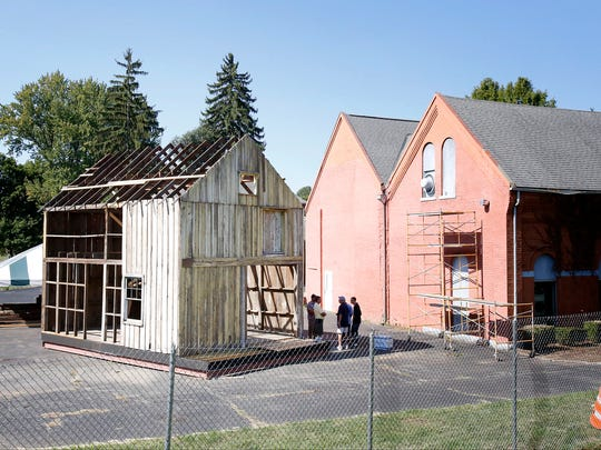 A nearly authentic Elmira Civil War Prison Camp building is being reconstructed behind the Friends of the Elmira Civil War Prison Camp headquarters on Winsor Avenue.