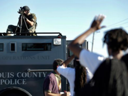St. Louis County police in Ferguson, Missouri. (AP Photo)