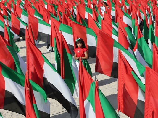 Emerati girl on UAE National Day