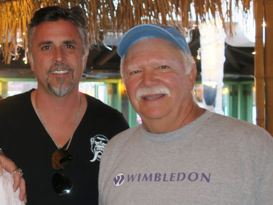 Larry Luce (right) and TV star Richard Rawlings, host