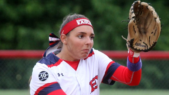 Eastchester's Jess Becchetti delivers a pitch during