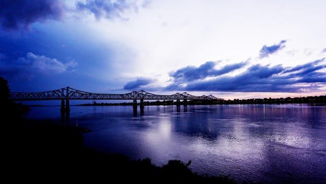 FOR ONLINE USE ONLY The Mississippi River in Natchez, Mississippi.