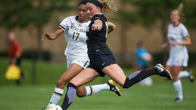 Purdue's Maddy Williams leads the Big Ten in goals, assists, points and game-winning goals.