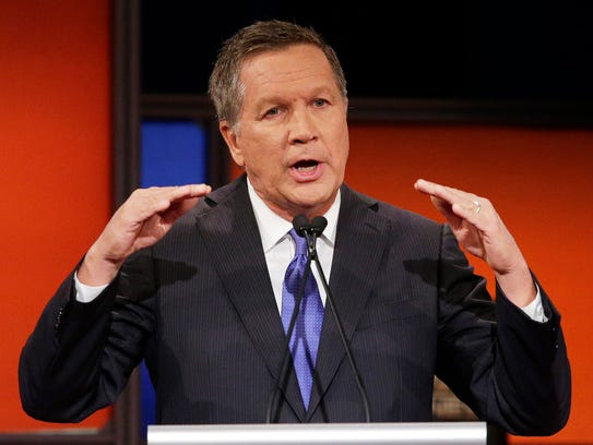 Ohio Gov. John Kasich speaks during the Republican
