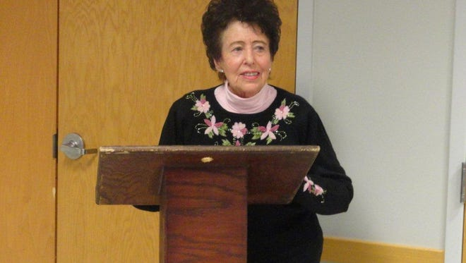 Jan Ammons, member of the Spencer Woman's Club, was the moderator during their annual candidate forum held Tuesday night.