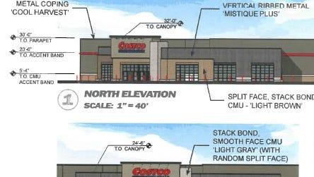 Costco store elevation illustrations.