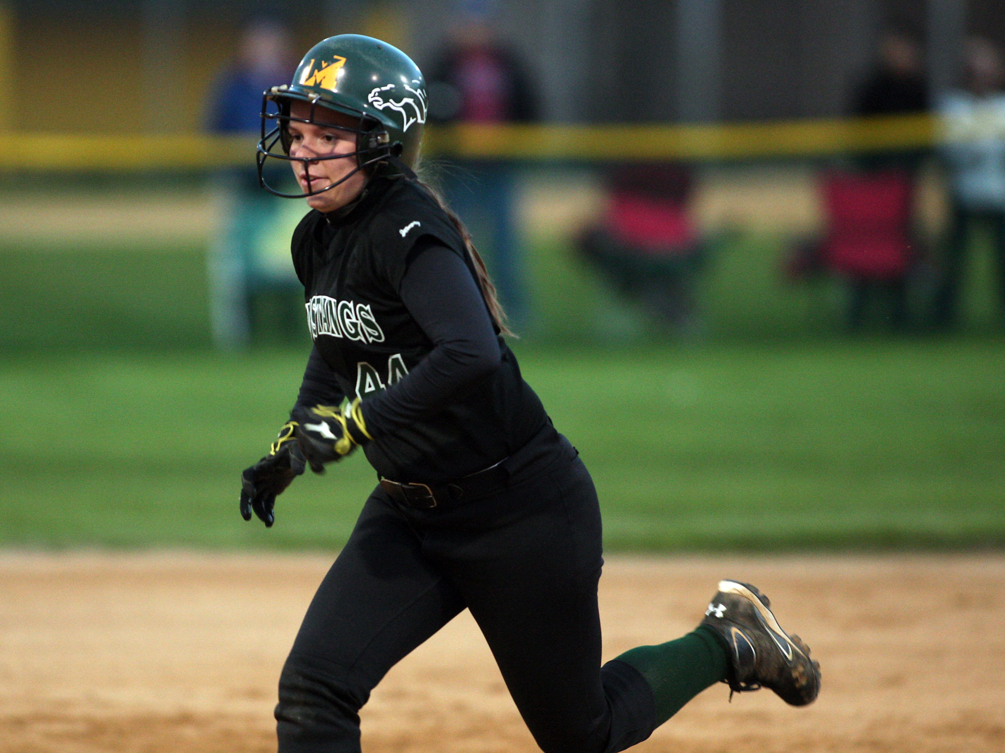 Sammie Booth became Montville's all-time hits leader when she collected hit No. 118 in a loss to DePaul on April 9.