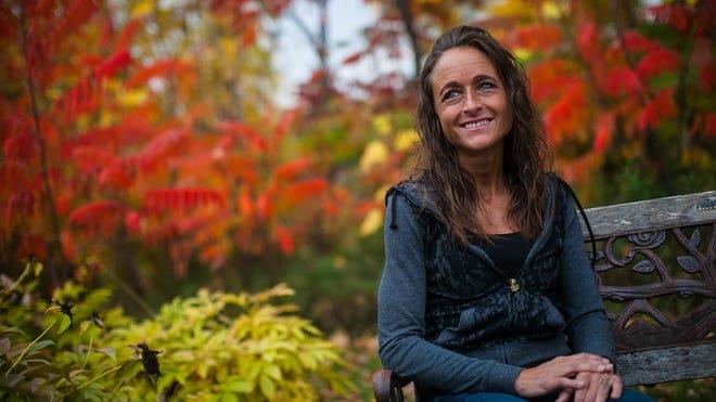 Domestic abuse survivor Jennifer Chaudoir outside the Golden House in Green Bay.