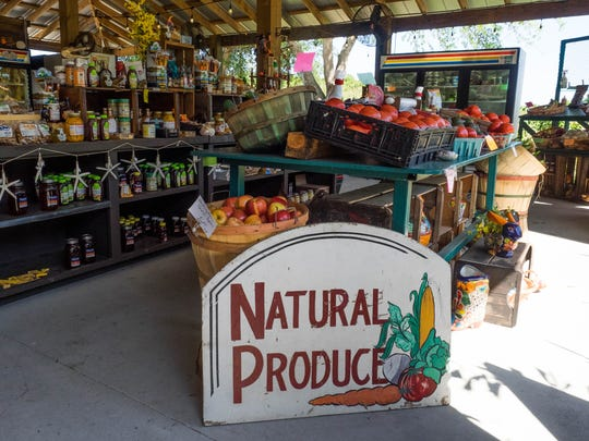 Last fall, the Barkwells added a year-round outdoor farm stand, where they sell local produce & citrus, most of which is grown according to organic practices, as well as a growing selection of dairy products, bulk staples such as nuts and beans, gift items, candies, jellies and much more.