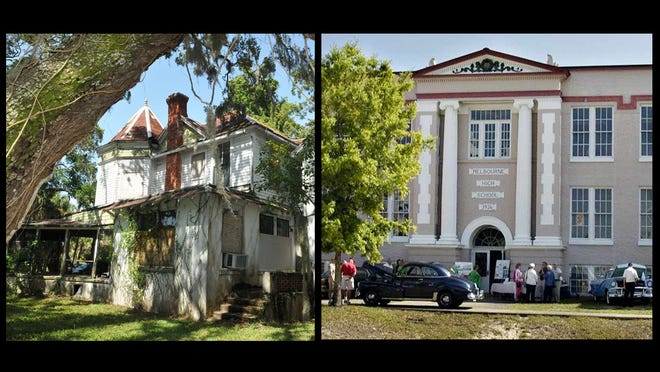 "Green Gables (left) and the old Melbourne High are listed among ""Florida's Eleven Most Endangered Historic Sites."""