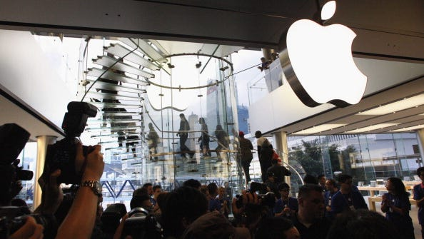 An Apple store in Hong Kong.