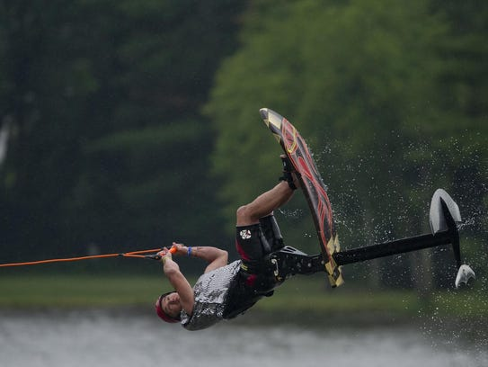 Bob Coley of during the Wisconsin Rapids Aqua Skiers