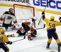 Roman Josi's power-play goal with 2:43 left is dif...