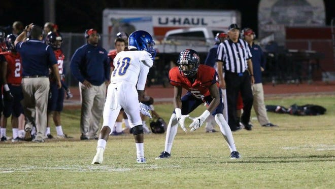 Jemaurian Jones lines up ready to make a play during a game last season.
