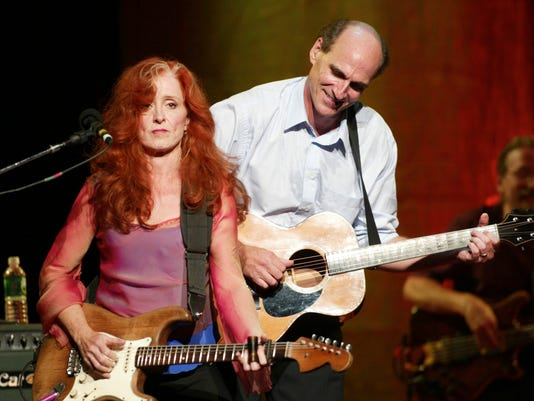 James Taylor and Bonnie Raitt