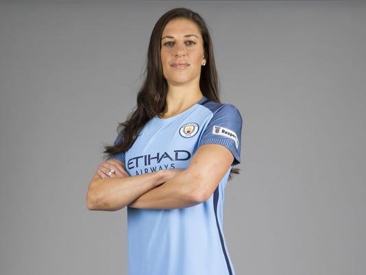 Britain Soccer Man City Women Lloyd