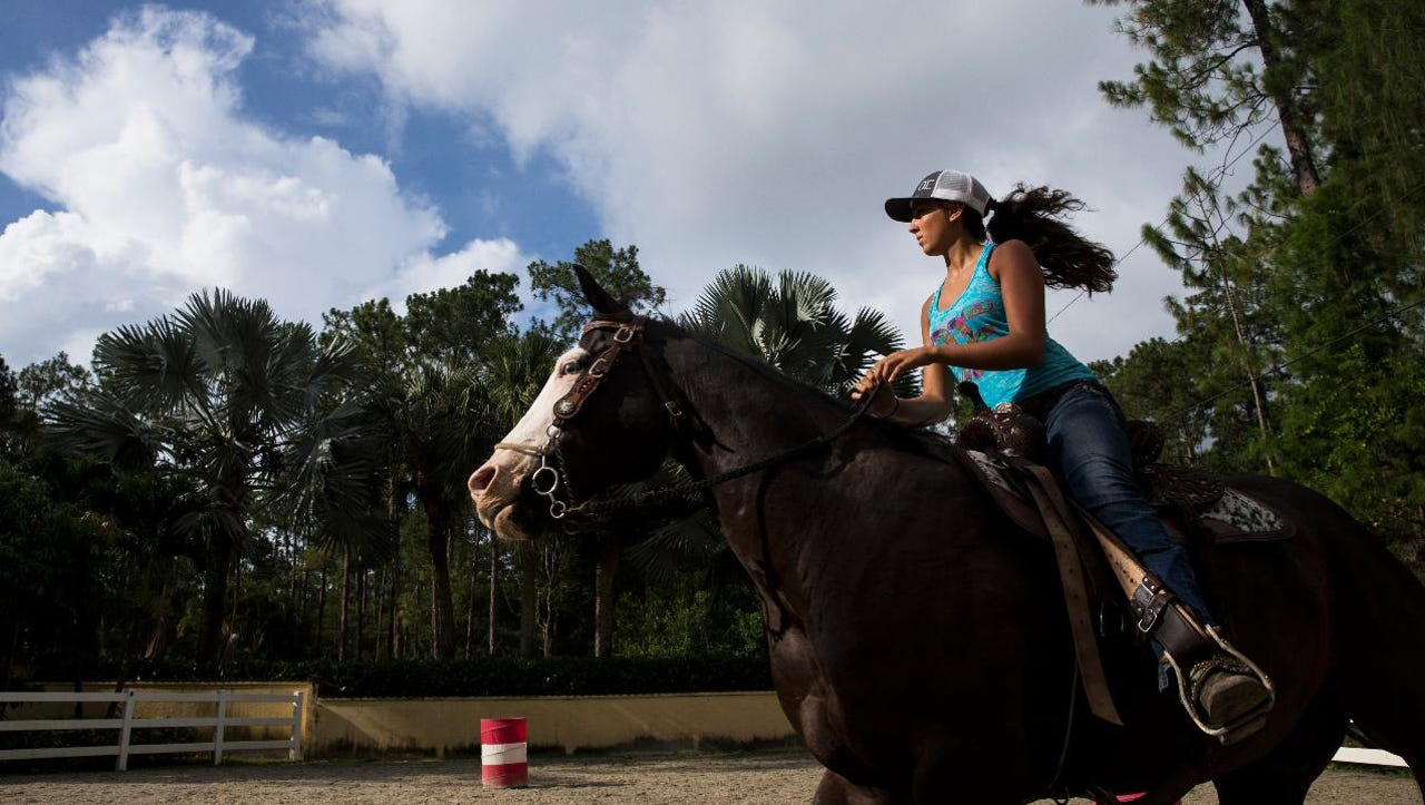 Rachel Caprio, an 18-year-old professional barrel racer, discusses her passion for the sport and plans for the future.