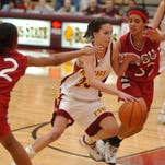 Lucy DeMartin-Prior finished her career as Ferris State University's all-time leading scorer with 1,721 career points. She played for the Bulldogs 2000-2004.