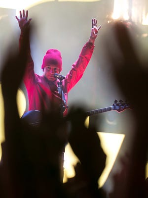 Twenty One Pilots performs at the Firefly Music Festival in Delaware in 2017. The Columbus-based band has scheduled a June 29 show at the Schottenstein Center.