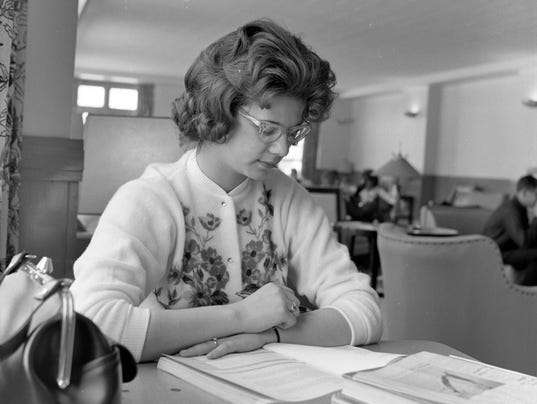 BSU student studying 1964