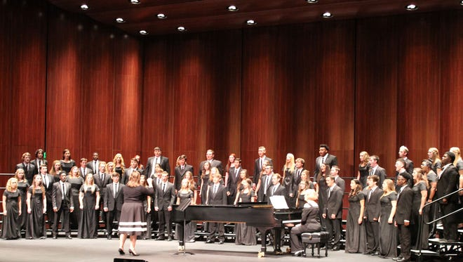 LaDona Tyson conducts the PRCC Singers during the Fall Choral Concert Nov. 5 at the Brownstone Center.