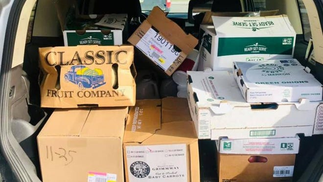 On Thursday, officials with the Otsego County United Way shared this image of a van full of fooddonated by Bob Evans Restaurant for the Otsego County Food Pantry.