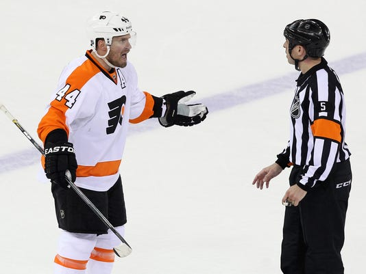 NHL: Stanley Cup Playoffs-Philadelphia Flyers at New York Rangers
