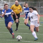 Stevenson's Grace Lamerson (6) lasered a header into the goal off a corner kick by Alia Basierbe.