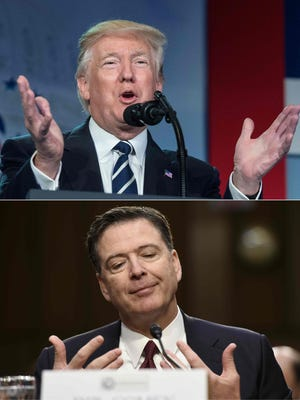 President Trump and James Comey,