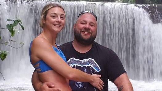 Sean Dunbar and his wife, Lauren.