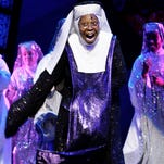 """U.S. actress and producer Whoopi Goldberg performs during a dress rehearsal, as she joins the theatre cast of the musical """"Sister Act"""" at the London Palladium Theatre on Aug. 10, 2010."""