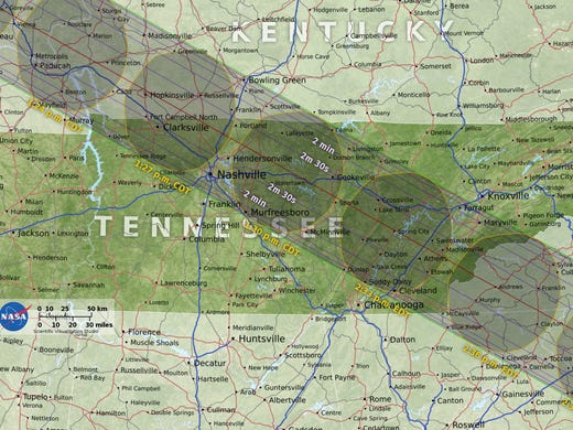 How 2017 Solar Eclipse Is Turning Tennessee Cities Into Boom Towns