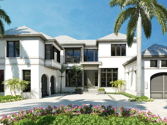 London Bay's Port Royal custom home features interiors by Romanza Interior Design