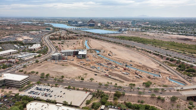 Salt River Project is developing 58 acres north of the Loop 202 at Priest Drive in a project called the Grand.