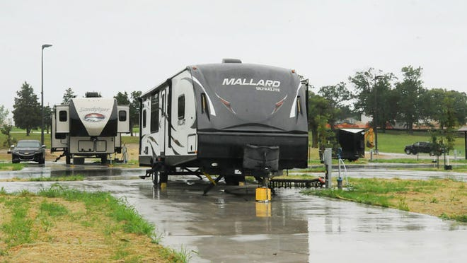 The new Fort Leonard Wood Recreational Vehicle Park opened today and two RVs are already set up. The park features 12 spaces with full hook-ups and is available for short-term or month-long rentals from the Outdoor Adventure Center.