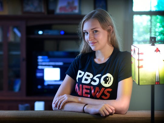 Cedar Crest student Pamela Kapok participated in the PBS NewsHour student reporting labs in Washington D.C.