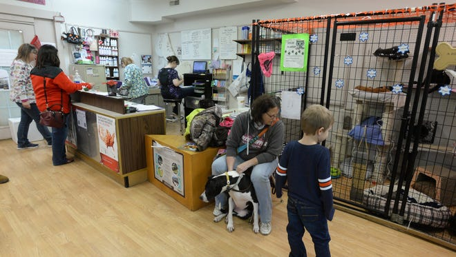 Pet owners wait to have their animals checked earlier this year at Animal Care Alliance on National Road West in Richmond. The organization is one of the participants in this year's Wayne County Foundation Challenge Match.