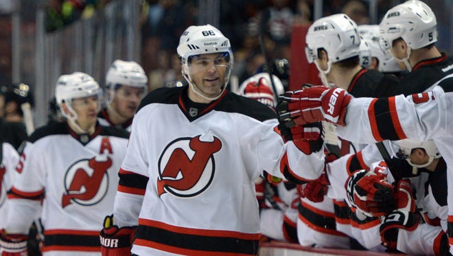 New Jersey Devils right wing Jaromir Jagr hit the 700-goal mark last season and passed some NHL legends along the way.