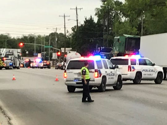 A crash occurred at South Abe Street and West Concho Avenue about 7 p.m. Friday, April 20, 2018.