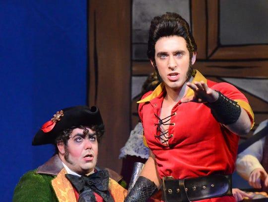 LeFou (Christopher Michaels) and Gaston (TJ Nelson)