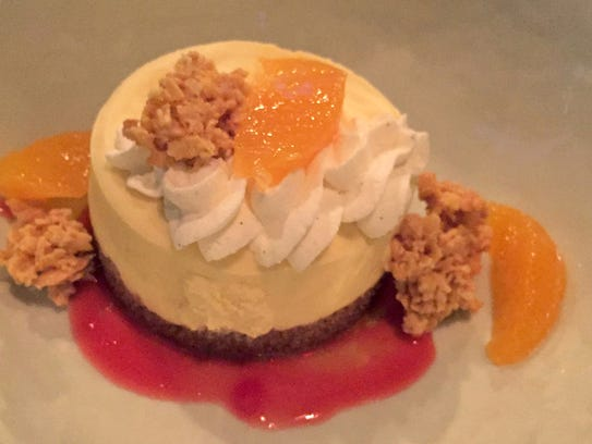 "The ""creamsicle"" dessert at Dandan, 360 E. Erie St.,"