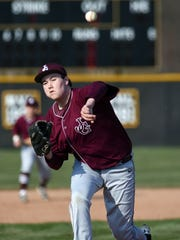 Paul Szalay fires a pitch during the second inning