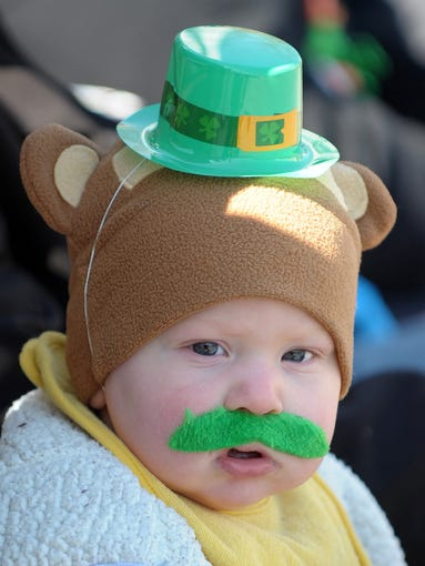 Eight-month-old Jose' Goines, from Milton, is ready for a festive time.
