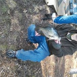 Roman with a nice Tomahawk area crappie.