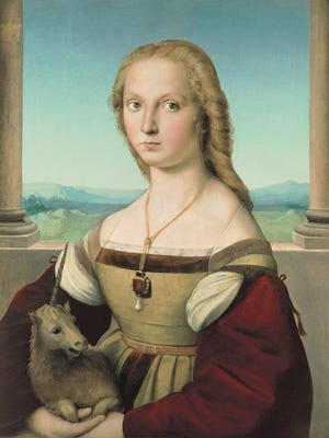 "Raphael's ""Portrait of a Lady with a Unicorn."""