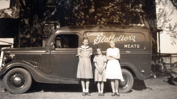 The Glatfelter name appears in the three corners of triangle-shaped York County. There was a time in the early to mid-20th century when four butcher shops operated in Windsor borough in southeastern York County. Windsor resident Nelson Glatfelter, one of those butchers, used this truck to deliver meat to his customers.
