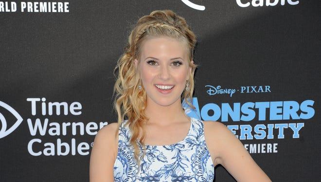 Caroline Sunshine arrives at the LA premiere of 'Monsters University' at the El Capitan Theatre on June 15, 2013 in Los Angeles.