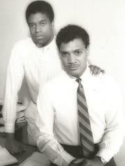 "L. Kenneth ""Lee'' Richardson (left) and Ricardo Khan in an undated photo."