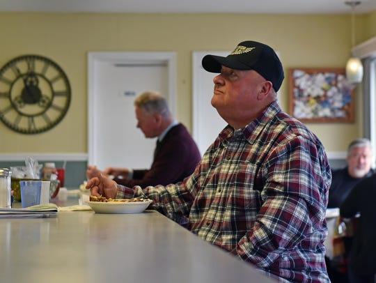 George Mazzoli, 69, of Vineland eats at Duke's Place